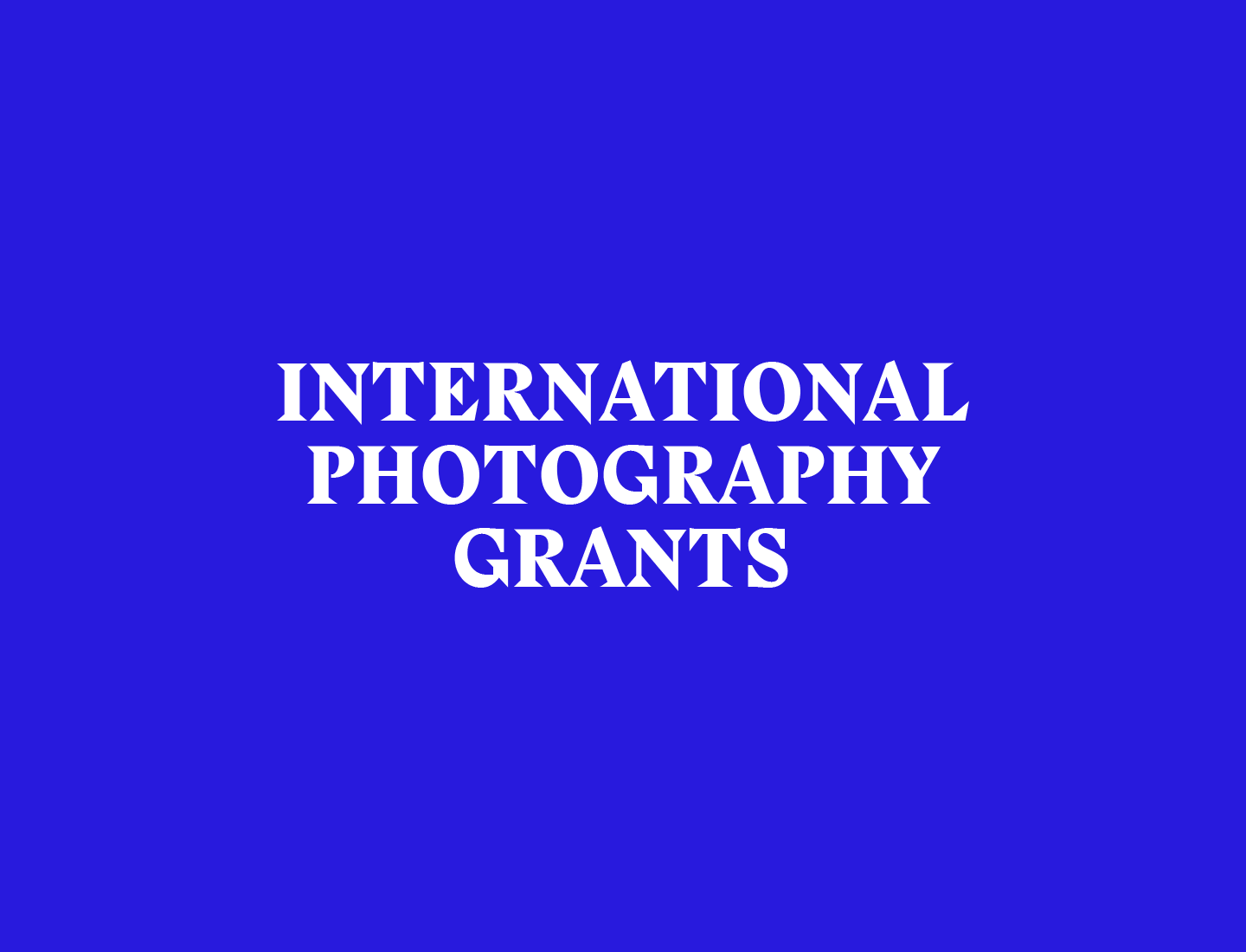International Photography Grants, Funds and Fellowships | FotoRoom